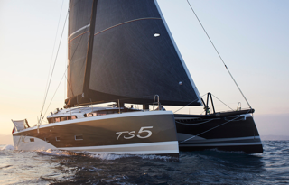 The Versatile TS5 Catamaran Addictive Sailing, Available to Charter for Racing and Cruising