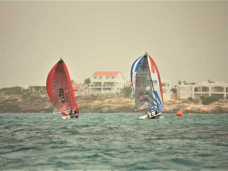 Team FKG sails through the Sahara Dust to grab 1st Place for the Day, Team Island Water World Takes
