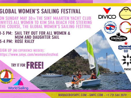 Sint Maarten Yacht Club joins the Steering the Course Women's Sailing Festival by offering free sail