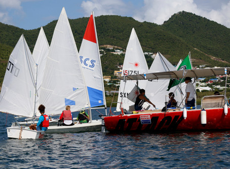 Bart's Bash sailed in light winds, challenging the skills of Sint Maarten Yacht Club sailors.