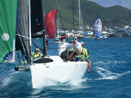 Keelboat Race in perfect conditions