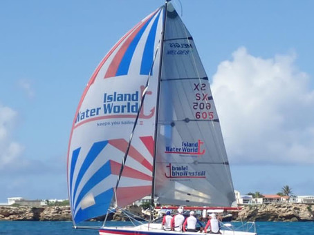 Team Island Water World winner of 1st race of the Grant Thornton Keelboat Series