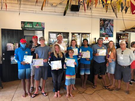 37 boat fleet enjoyed stiff breezes during the St. Maarten National Championship 2021