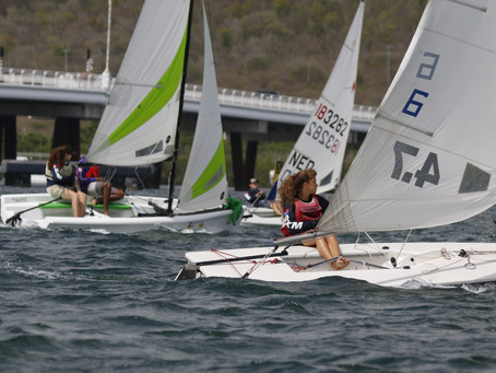 Very shifty conditions on the first day of the Hope Ross Series.
