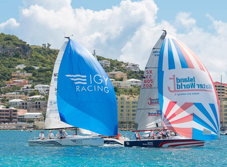 First race in the Grant Thornton Keelboat Series won by Team Island Water World