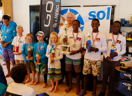 Ozani Lafond from Antigua overall winner of the 14th Annual Sol St. Maarten Optimist Championship