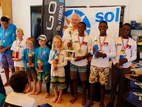 Ozani Lafond from Antigua overall winner of the 14th Annual Sol St. Maarten Optimist Championship