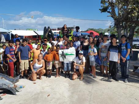 60 children participated in the St.Maarten Regatta Beach Clean-Up.