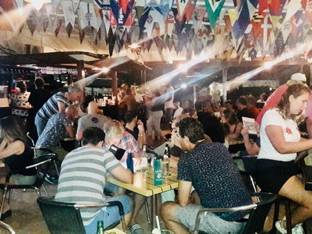 It is game on during the Pub Quiz Night at the Sint Maarten Yacht Club!