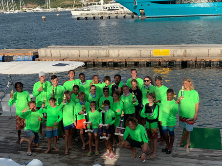 Learning Unlimited overall winner of the 4th Annual Domino's Interschool Dinghy Sailing Championship