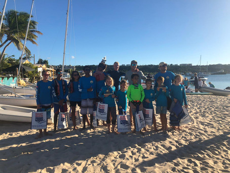 Successful racing in the Anguilla Dinghy Championships