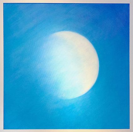 La lune en plein jour