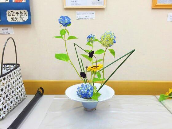 奈良の生け花教室レポートと3分でわかる花 【奈良 高の原 奈良女子大学 紫陽花】
