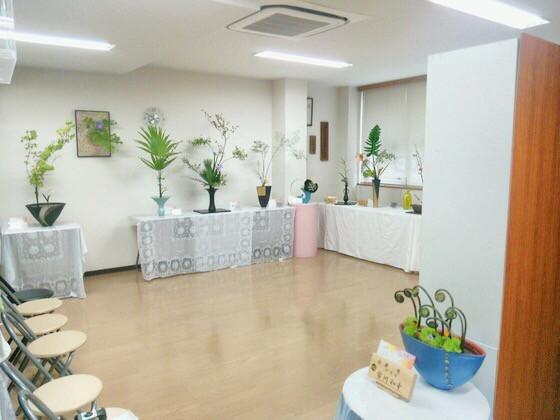 奈良のいけばな教室 生け花展示会初日