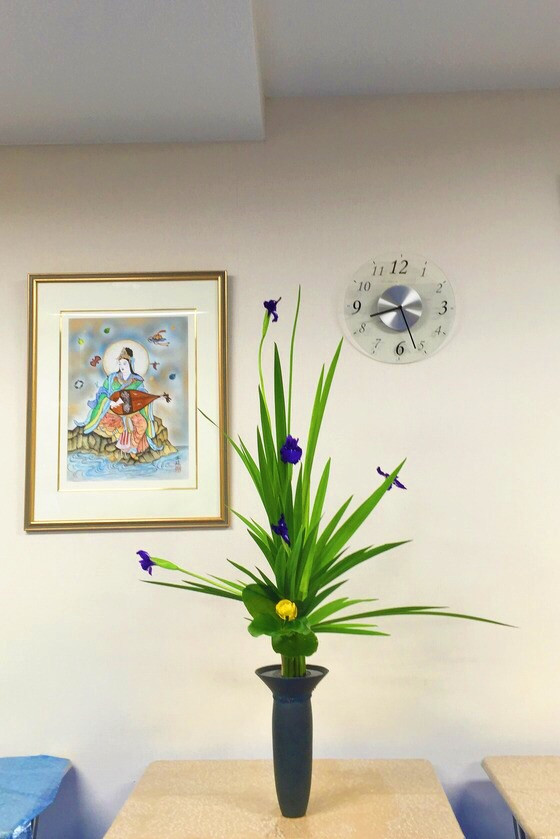 奈良の生け花教室レポートと3分でわかる花 【奈良 西大寺 奈良女子大学 日本料理おばな 奈良ウェルネス倶楽部 太藺 縞つくも トトラ】