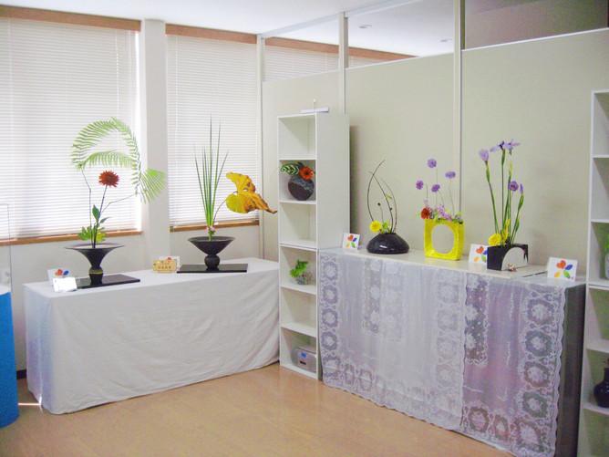 奈良市いけばな教室の花展が始まりました