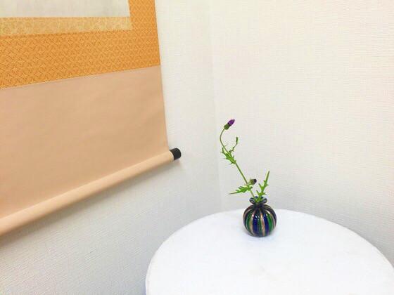 奈良のいけばな教室レポートと3分でわかる花 【奈良 高の原 奈良女子大学 アガパンサス】