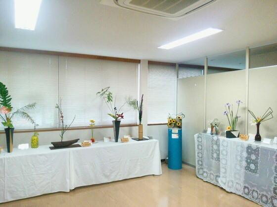 奈良のいけばな教室 生け花展始まりました