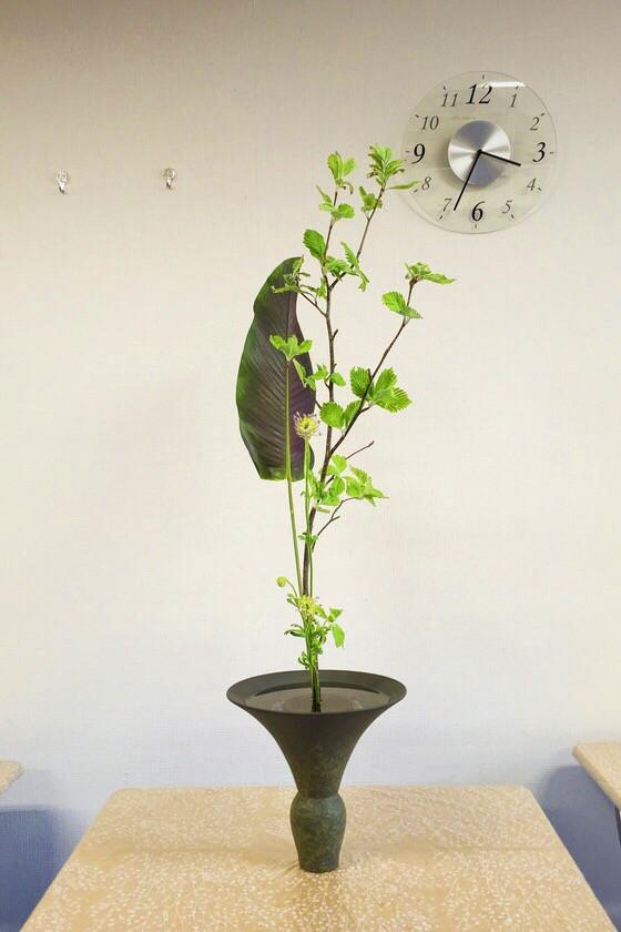 奈良の生け花教室レポートと3分でわかる花 【奈良 西大寺 日本料理おばな 花菖蒲】