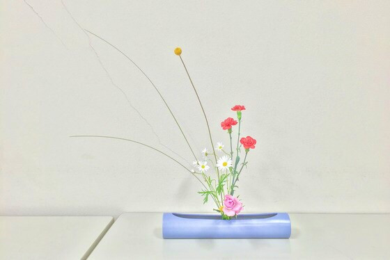 奈良のいけばな教室レポートと3分でわかる花 【奈良 奈良女子大学 ばいかうつぎ】