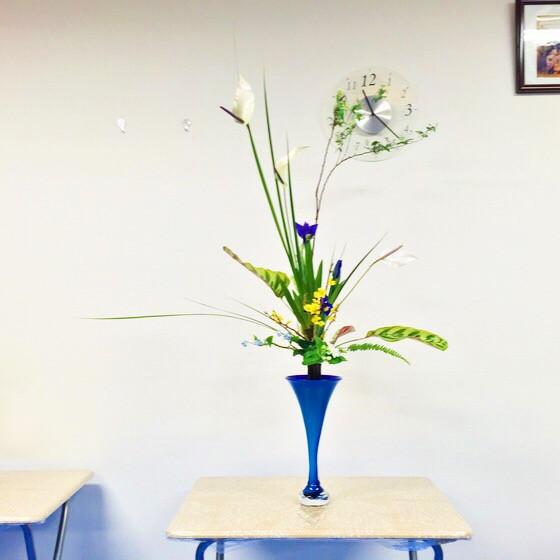 奈良のいけばな教室日記と3分でわかる上手に花をいけるコツ 【奈良 西大寺 高の原 彼岸桜】