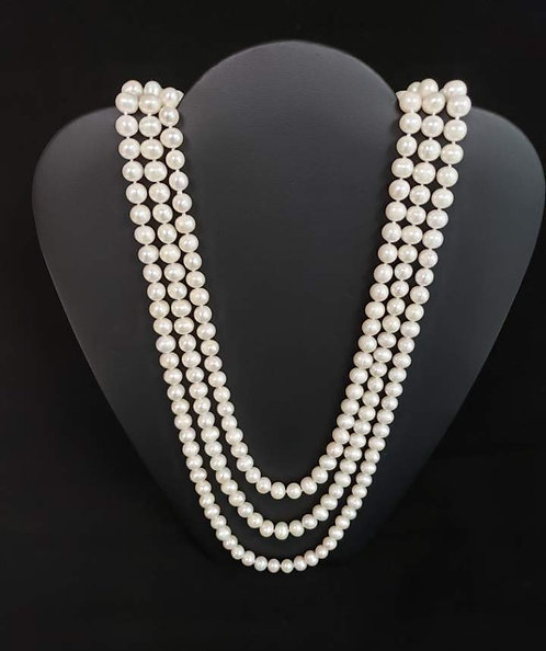 """88"""" Freshwater Peal Necklace"""