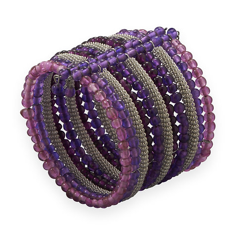 Purple/Pink Large Cuff Bracelet