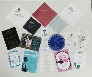 Napkins and Invitations