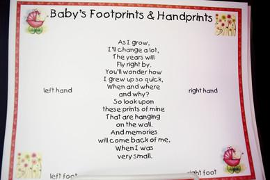 Baby's Foot & Hand prints