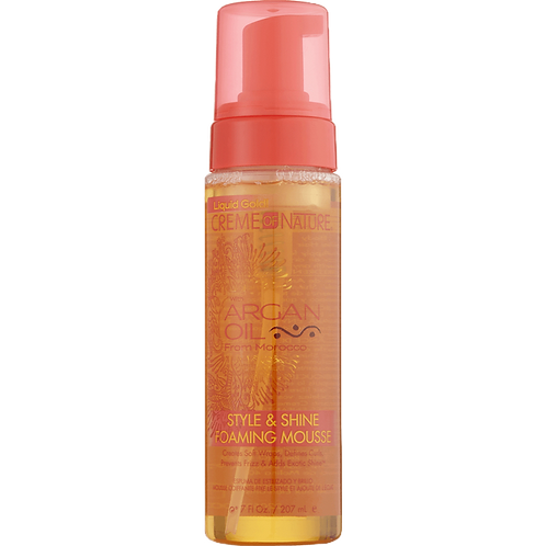 Creme of nature argan oil style&shine foaming mousse
