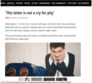 This Letter is Not a Cry for Pity