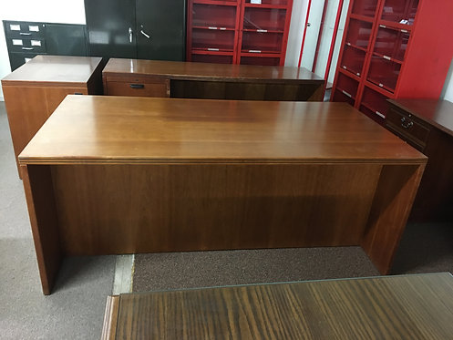 Wooden Desk & Credenza