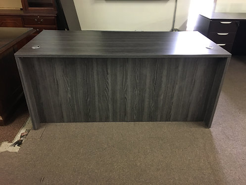 """Coastal Gray 30"""" x 66"""" Desk with Hanging Ped"""