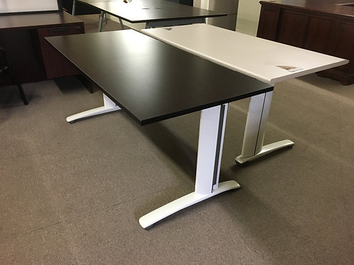 Espresso Top / White Leg Desk