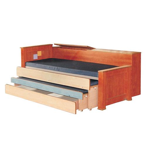 מיטת נוער משולשת עם ארגז מצעים אחורי רהיטי הנגר