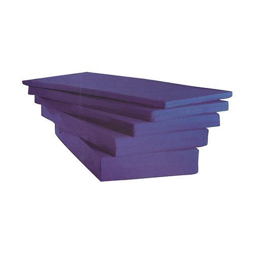 מזרן ספוג לבן כחול סגול בד כחול