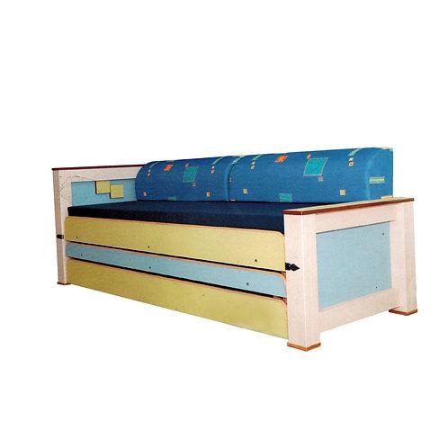 מיטת נוער משולשת רהיטי הנגר