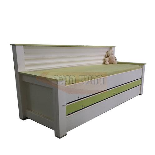 מיטת נוער משולשת גב גלים רהיטי הנגר
