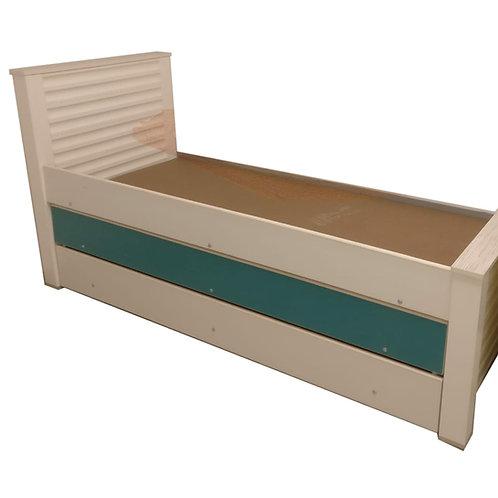 מיטת נוער משולשת גלים רהיטי הנגר