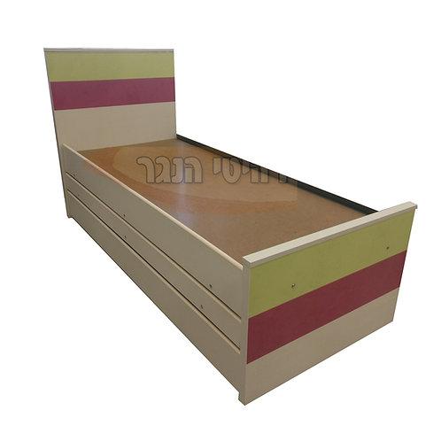 מיטת נוער משולשת 3 גוונים רהיטי הנגר