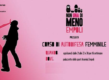 Corso Autodifesa Femminile in collaborazione con il gruppo di Empoli Non una di meno