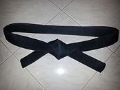 Black Obi Flat Knot