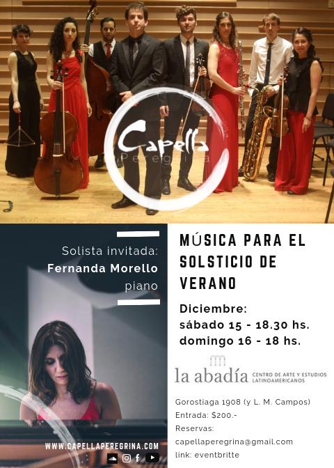 Capella Peregrina y Fernanda Morello