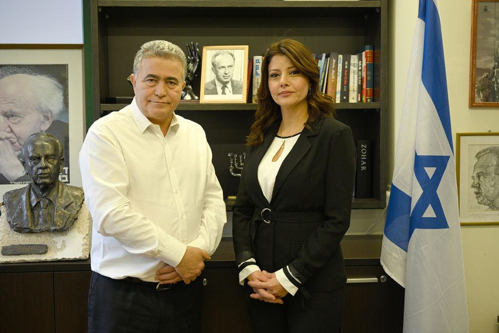 Amir Peretz and Orly levi