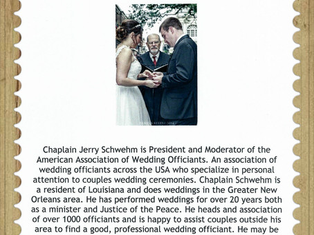 American Association of Wedding Officiants - Here for Your Special day!