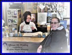 Wanda drops off marriage license