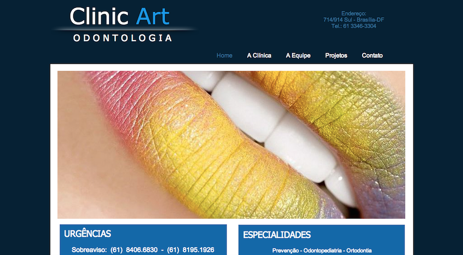 Clinic Art Odontologia :: WebSite