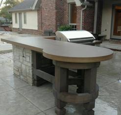 Concrete Pillar Base w/ Concrete Countertop