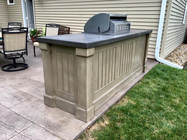 Concrete Paneled Sides