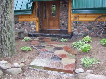 Concrete Front Entrance Walkway